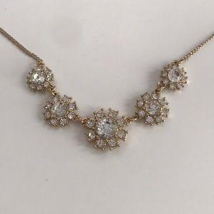 Jewelry - Floral Rhinestone Statement Necklace